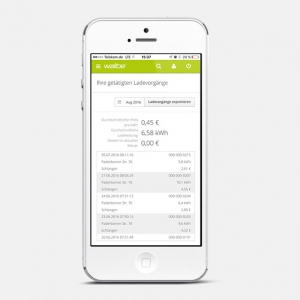 wallbe app: Number of charge transactions