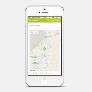 wallbe app: Charging station location(s)